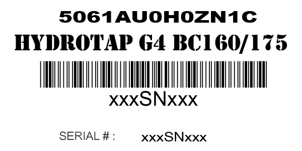 How do I locate my Zip Water serial number and model number?