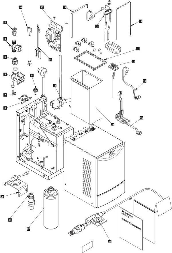 Zip Hydrotap Miniboil Unit Spare Parts Zip Water